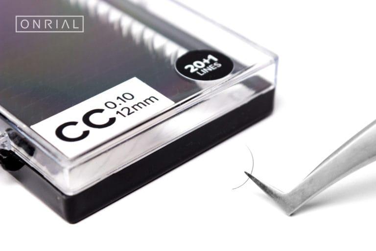 Вій чорні одна довжина CC 0.10 12 mm