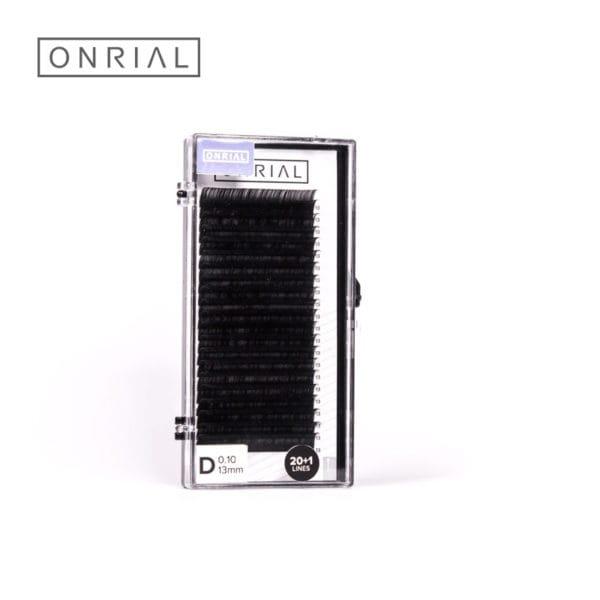 Вій чорні одна довжина Onrial D 0.10 13mm
