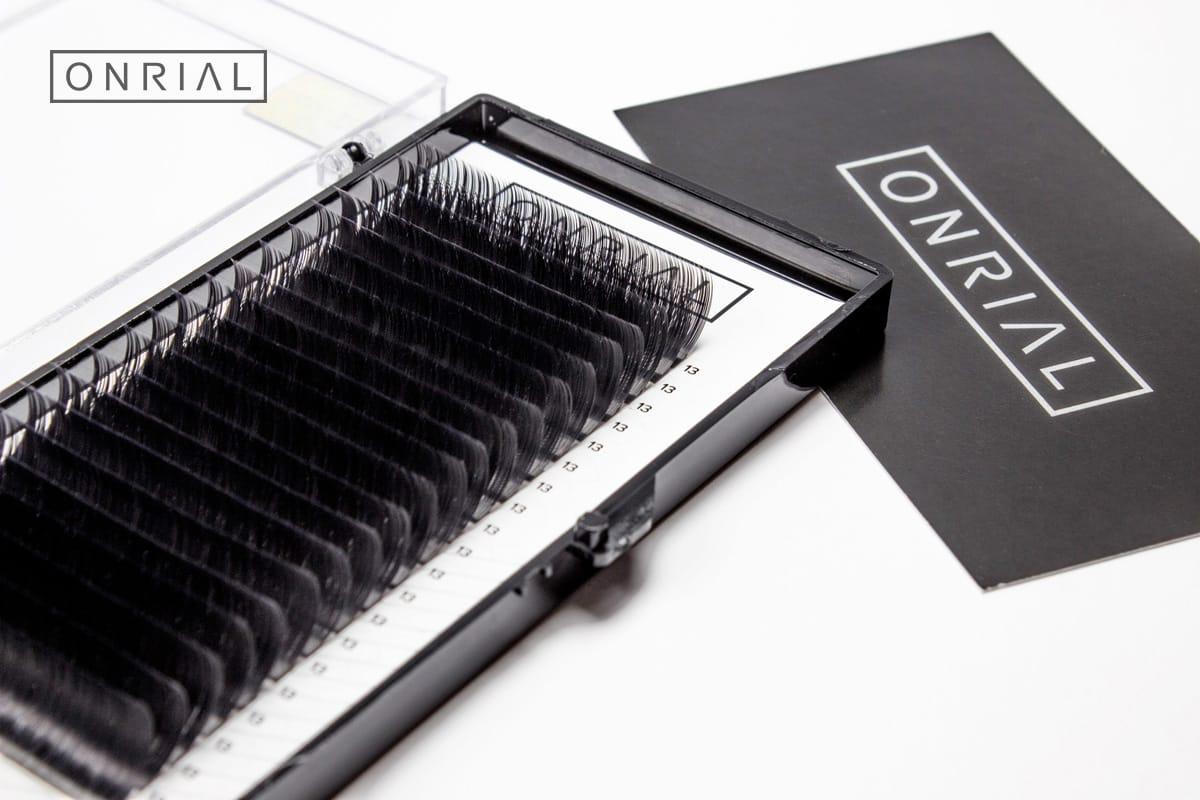 Ресницы черные одна длина 13 Onrial