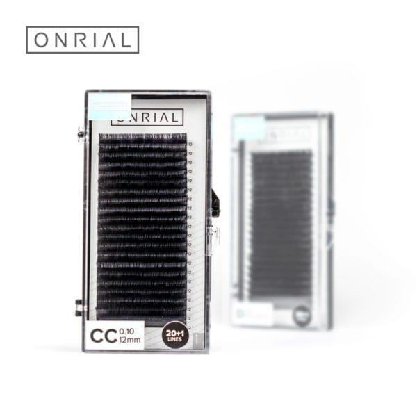 Вій чорні одна довжина Onrial CC 0.10 12mm