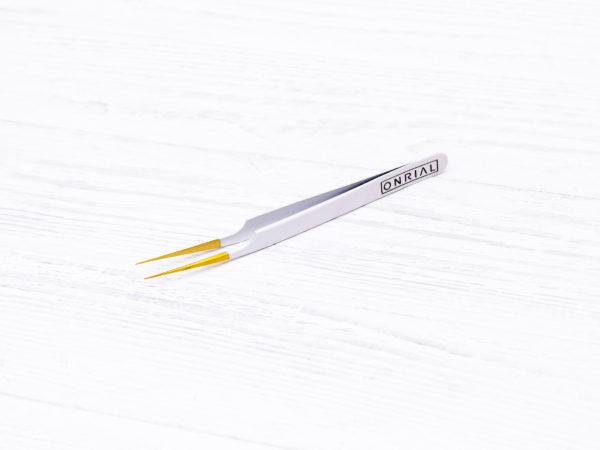 пинцет для наращивания ресниц прямой ТМ Onrial