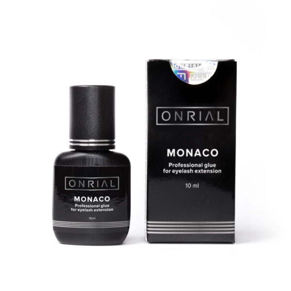 Прафесійны клей для нарошчвання веек «Monaco» 10 ml + коробка