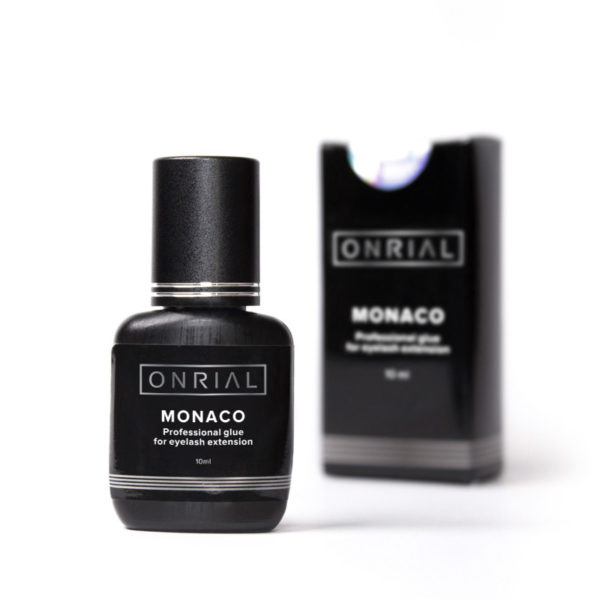 Прафесійны клей для нарошчвання веек «Monaco» 10 ml + коробка - 2