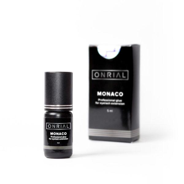 Профессиональный клей для наращивания ресниц «Monaco» 5 ml + коробка