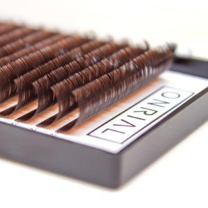 Ресницы коричневые микс