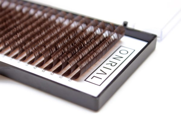 Ресницы коричневые микс Onrial 8-12
