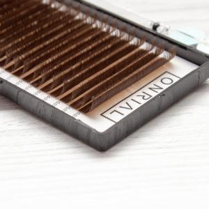 Ресницы коричневые молочный шоколад Onrial