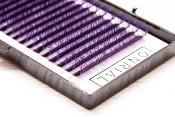 Ресницы цветные омбре (фиолетовые) Onrial