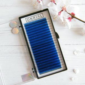 ресницы цветные Onrial синие