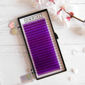 фиолетовые ресницы для наращивания Onrial