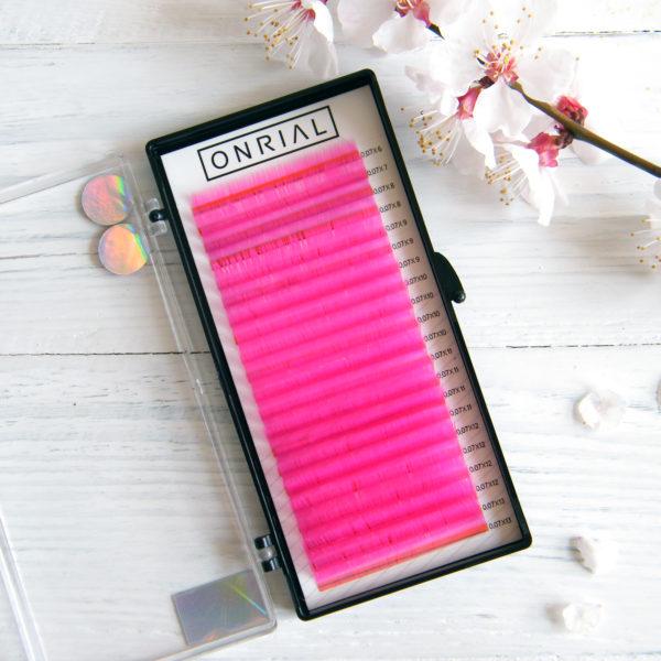 Цветные ресницы для наращивания розовые