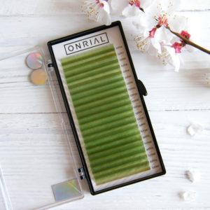 светло-зеленые ресницы для наращивания