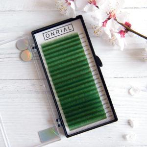 цветные ресницы зеленые Onrial