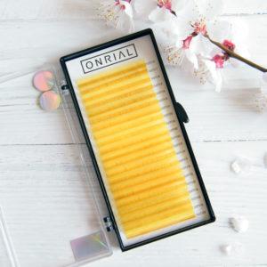 цветные ресницы для наращивания желтые Onrial