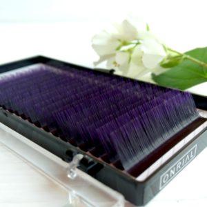 Ресницы омбре фиолетовые