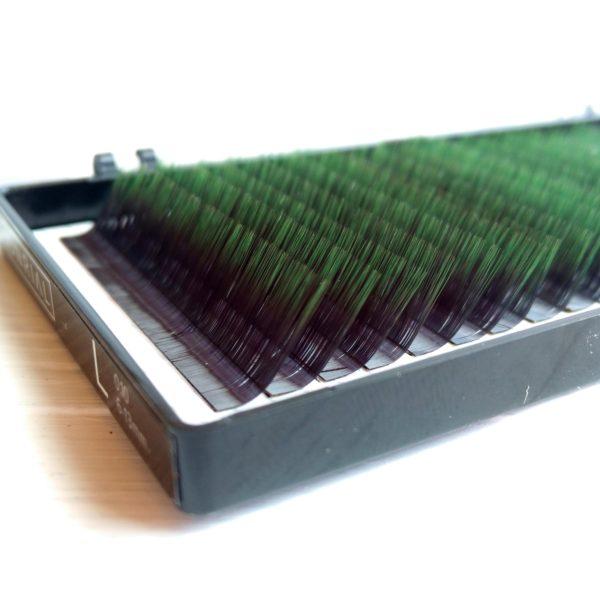 Ресницы омбре зеленые Onrial